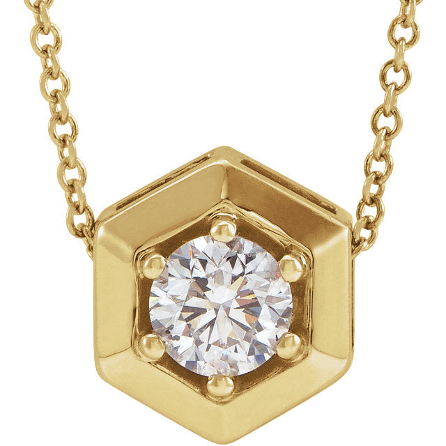 14kt Honey Comb 1/2 Carat Lab Grown Diamond Necklace - Green Planet Diamonds
