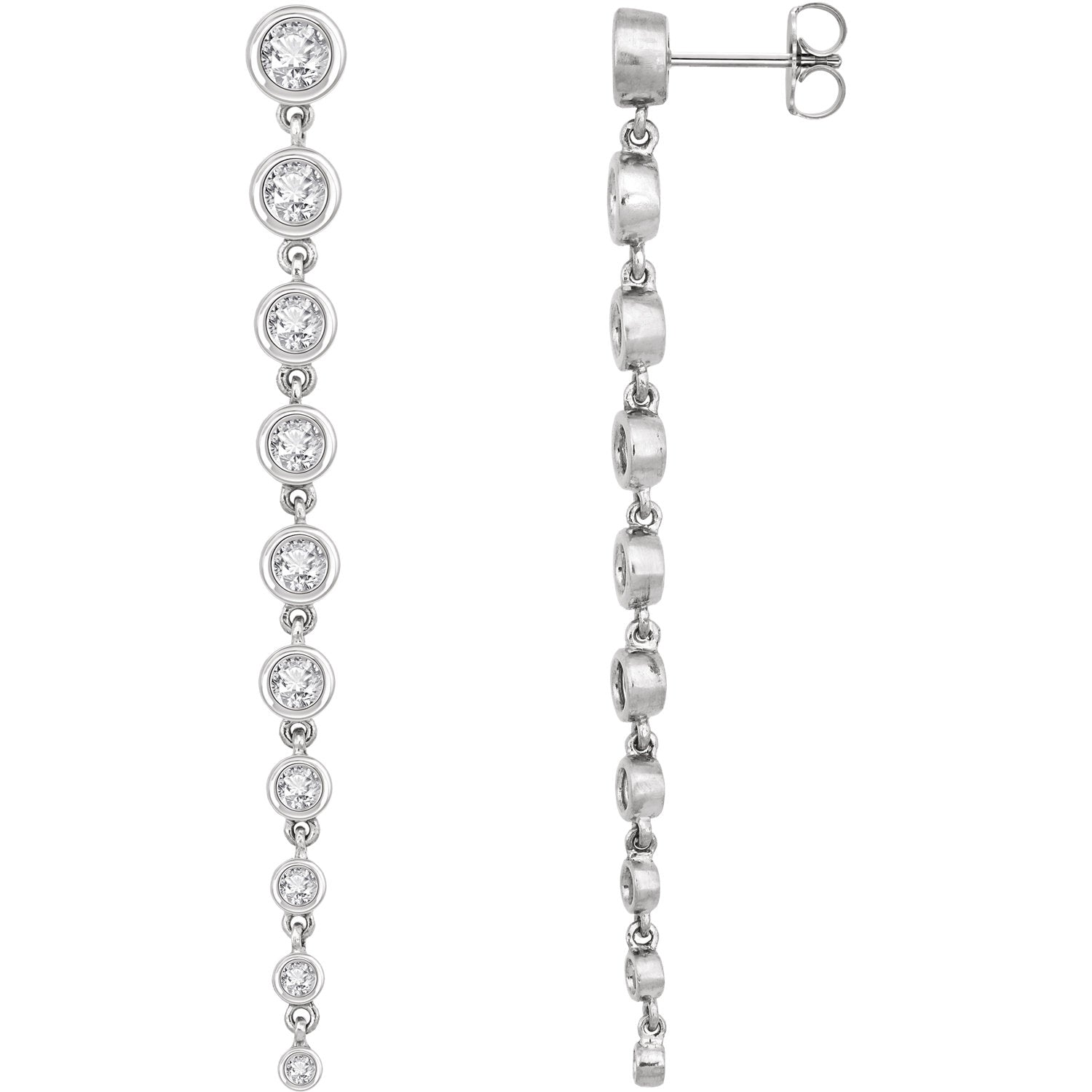 14kt Lab Grown Diamond Dangle Earrings - Green Planet Diamonds