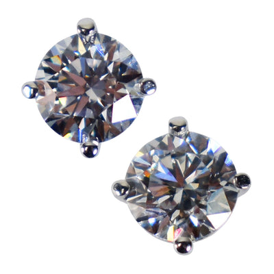 4 Prong Martini Lab Grown Diamond Earring Studs