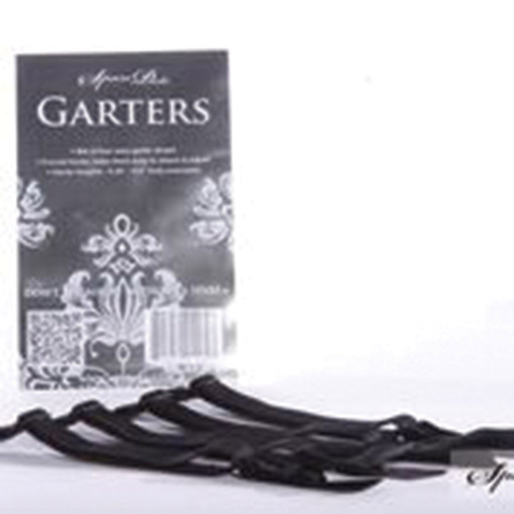 SpareParts Removeable Garter Black (set of 4)