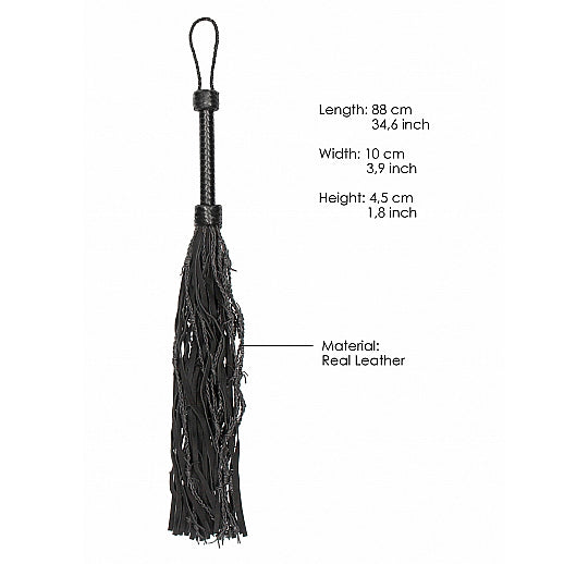 Ouch Leather/Suede Barbed Wired Flogger