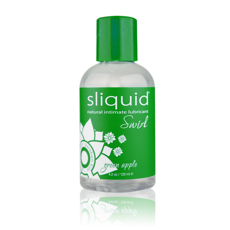 Sliquid Swirl Green Apple Lube 4.2oz