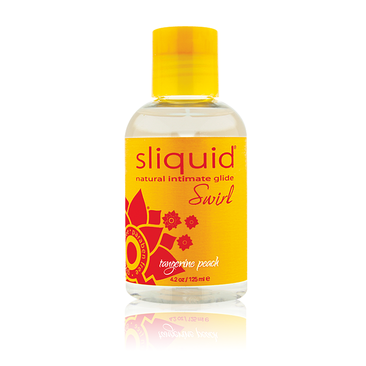 Sliquid Swirl Tangerine Peach Lube 4.2oz