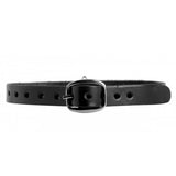 Narrow Leather Choker with O-Ring