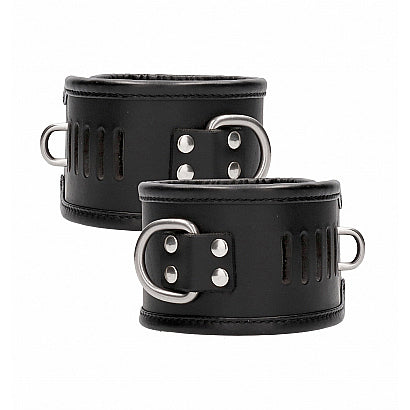 Ouch Leather Lockable Ankle Restraints