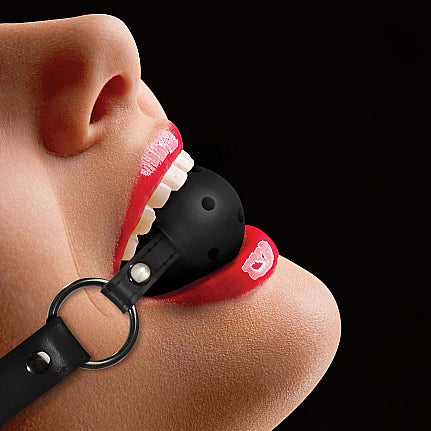 Ouch Ball Gag with Leather Straps