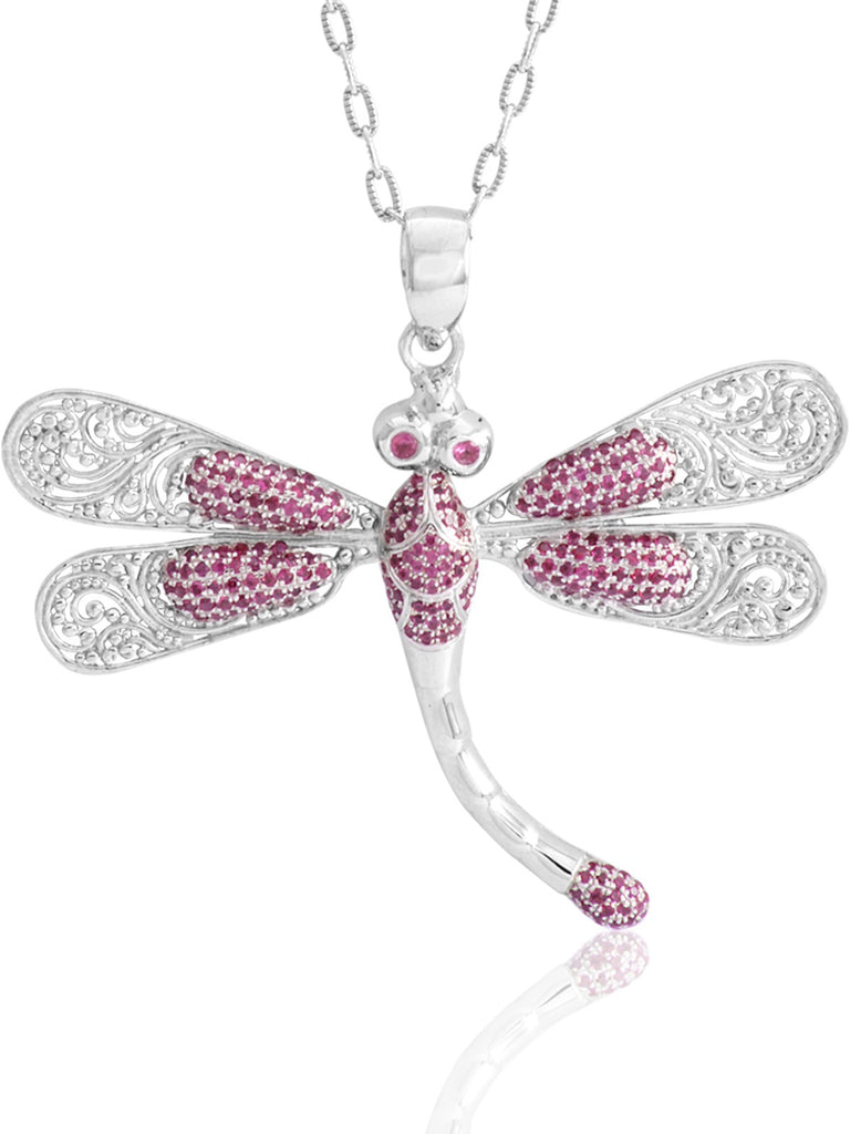 Sweet Dragonfly Signature Necklace embellished by Ruby
