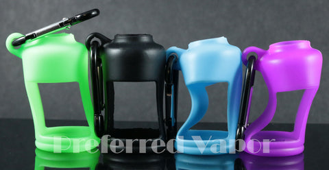 Silicone 30ml Bottle Holder with Carabiner Clip