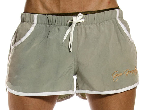 Gym Shorts Grau / Gold