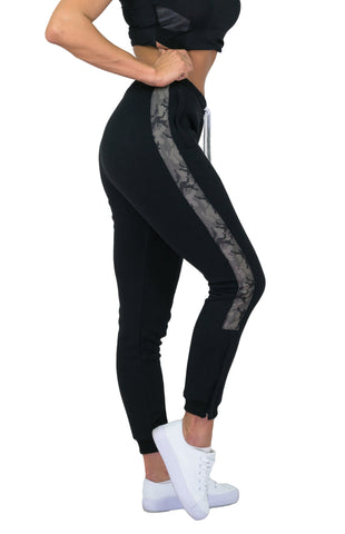 Alpha Gym Pants - Black / Cypres Camo