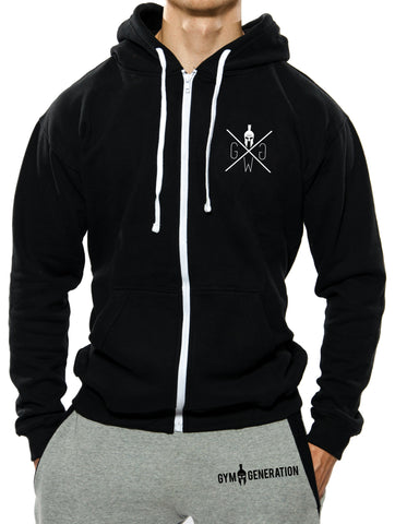 Gym Warriors Zip Hoodie - Schwarz