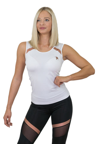 Gym Generation Mesh Top - White