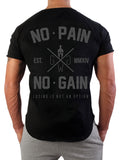 No Pain No Gain T-Shirt - Schwarz
