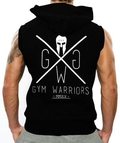Gym Hoodie Sleeveless - Schwarz - Gym Generation-