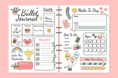 organiser un bullet journal