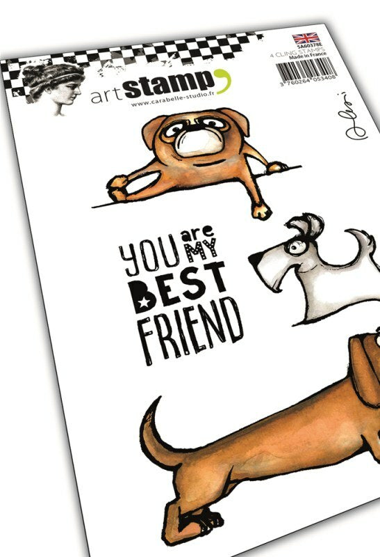Set de 4 tampons clear A6 - My dog, my best friend by Alexi - 10x15cm