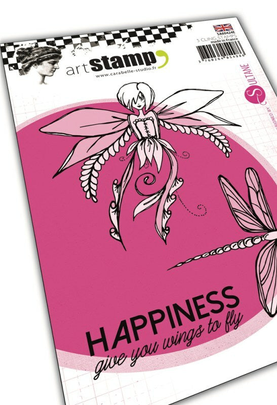 Set de tampons cling A6 - Happiness by Sultane - 10x15cm