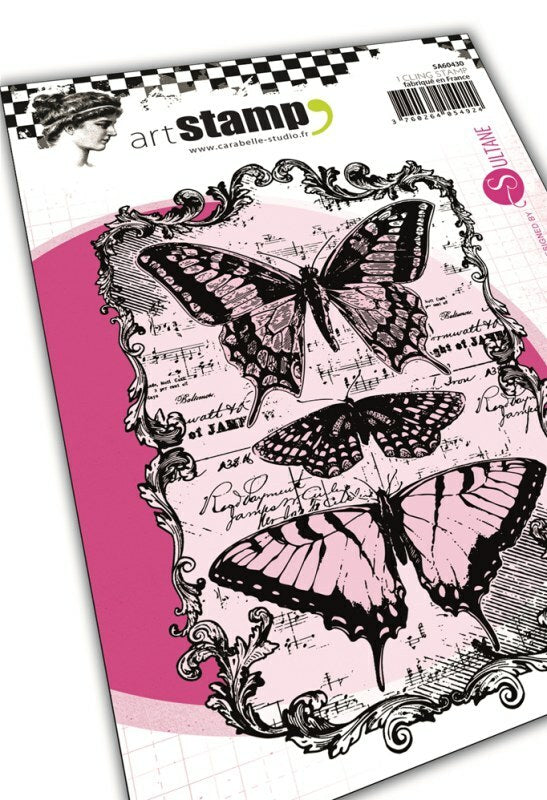 Set de tampons cling A6 : Butterflies by Sultane - 10x15cm