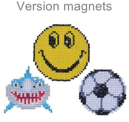 Kit de broderie diamant Diamond Dotz - Lot 3 magnets fun