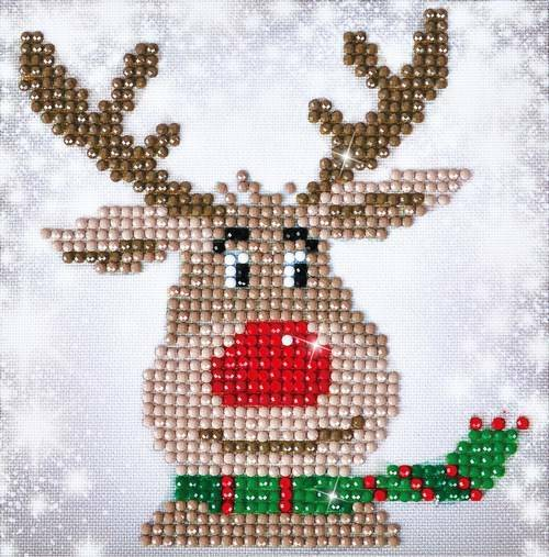 Kit Broderie Diamant Noel - Le Renne De Noel Et So