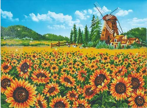 Kit de broderie diamant Diamond Dotz - Le Moulin Aux Tournesols