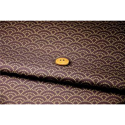 Coupon de tissu 45x55 cm japonnais vague - violet