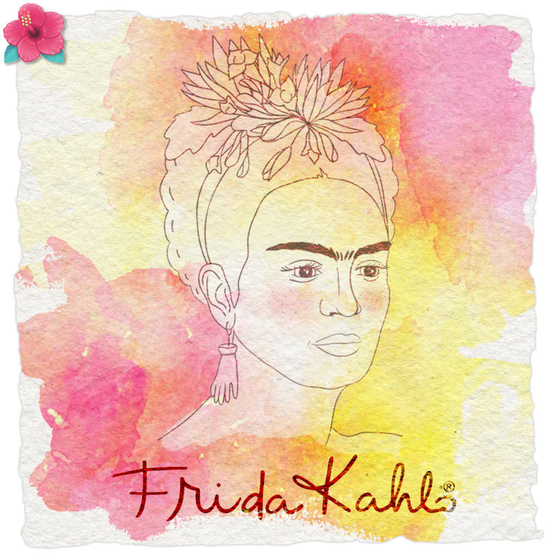 Tampon clear Frida Kahlo® - La belle Frida Love In The Moon - CréaPlaisir