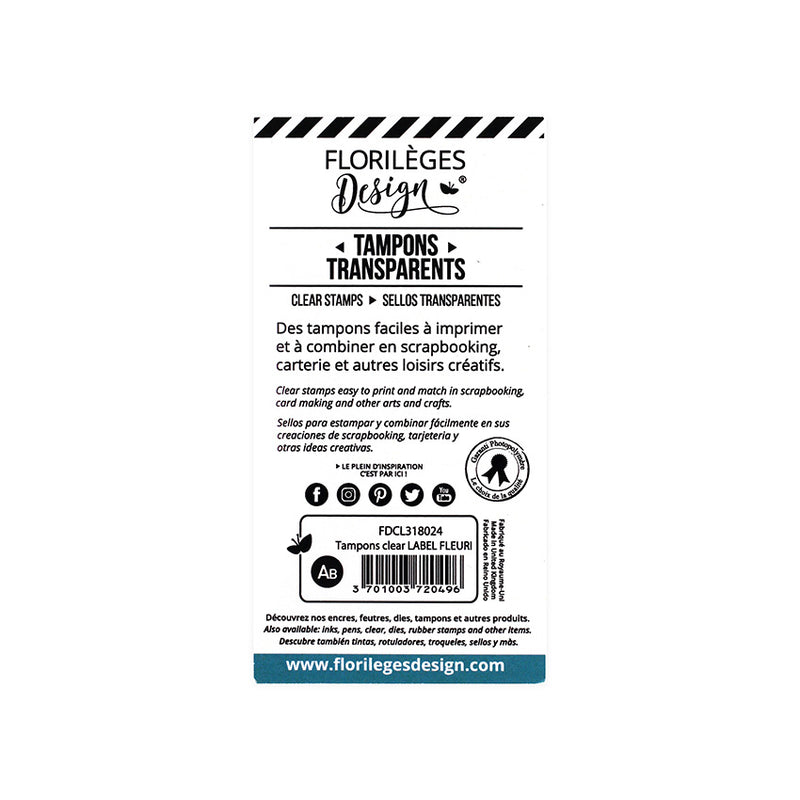 Tampon clear LABEL FLEURI