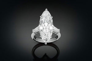 Marquise-Cut Golconda Diamond Ring