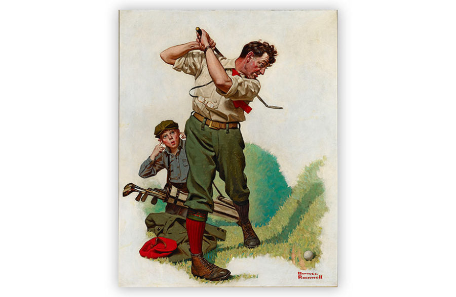 The Golfer by Norman Rockwell