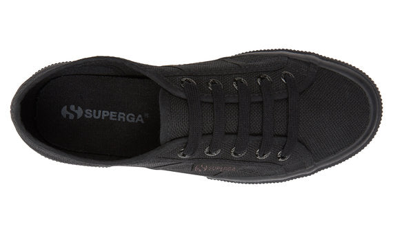 SUPERGA COTU ALL BLACK CANVAS