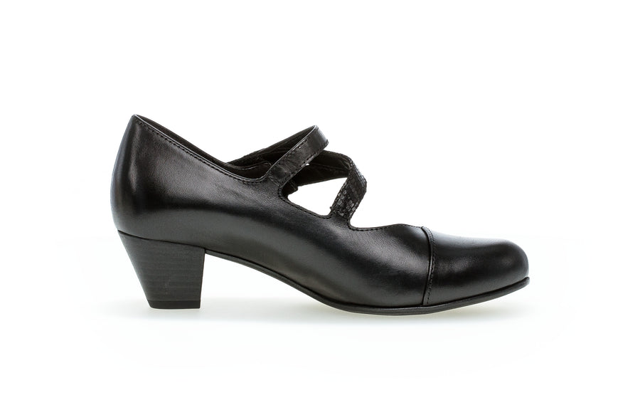 GABOR 56.146-BLACK LEATHER