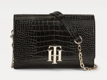 Tommy Hilfiger TH LOCK CROCO-EFFECT CROSSOVER BAG 8865