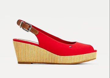 Tommy Hilfiger Iconic Elba Sling-back wedge 4788 Red