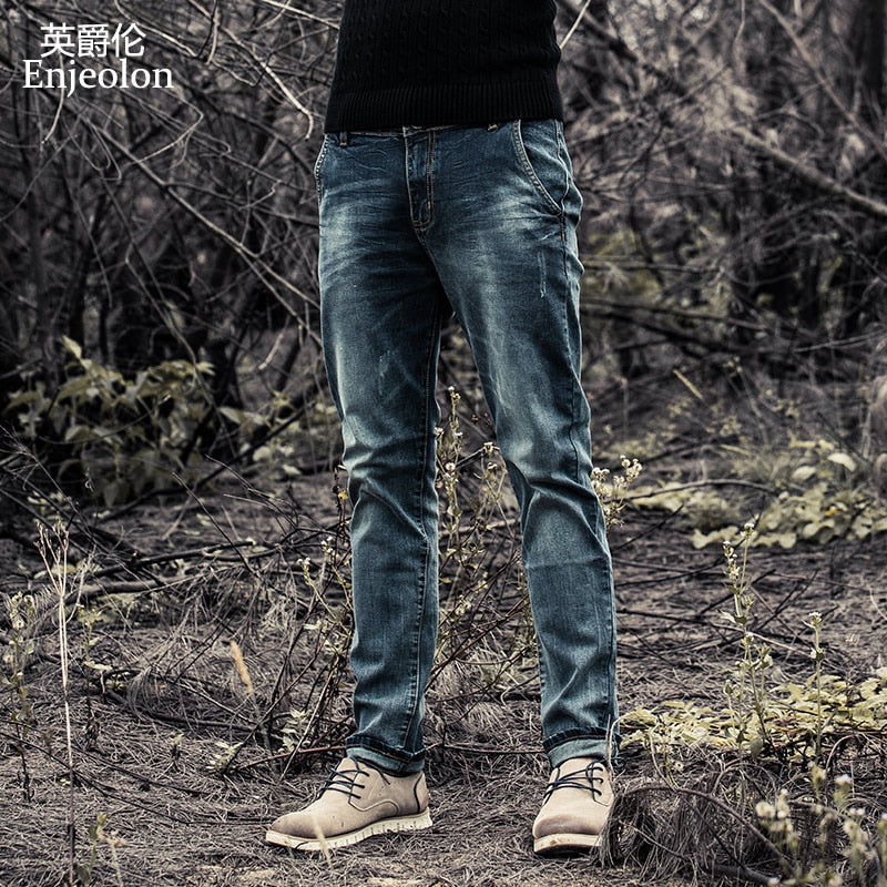 Brand 2020 New Men Denim Jeans Fashion Mens Casual Slim Fit Straight Long Trousers For Male - onlinedressstore