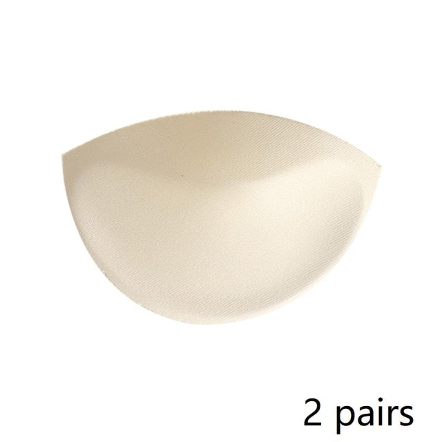 2 Pcs 1pair Thick Sponge Bra Pads Push Up Breast Enhancer Removeable Bra Inserts For Swimsuit Bikini Padding Intimates 2 pairs - onlinedressstore