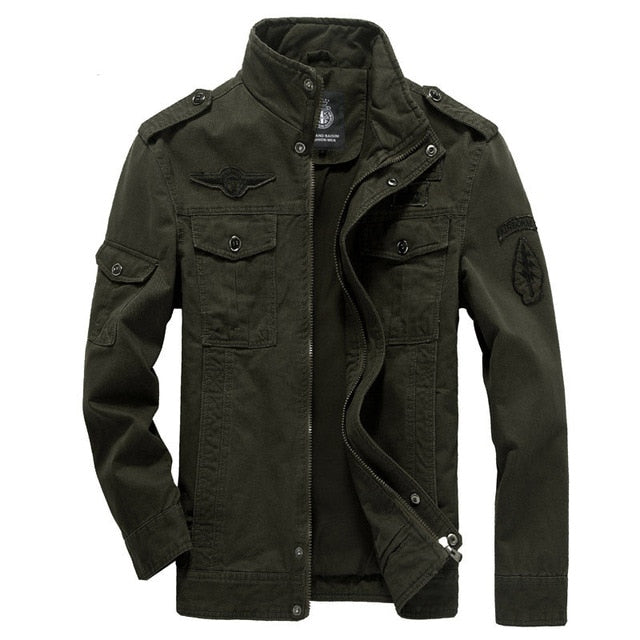 Winter Cargo Plus Size M-XXXL 5XL 6XL Casual Man Jackets Army Clothes Brand 2018 Mens Green Khaki 3 Colors Military Jacket - onlinedressstore
