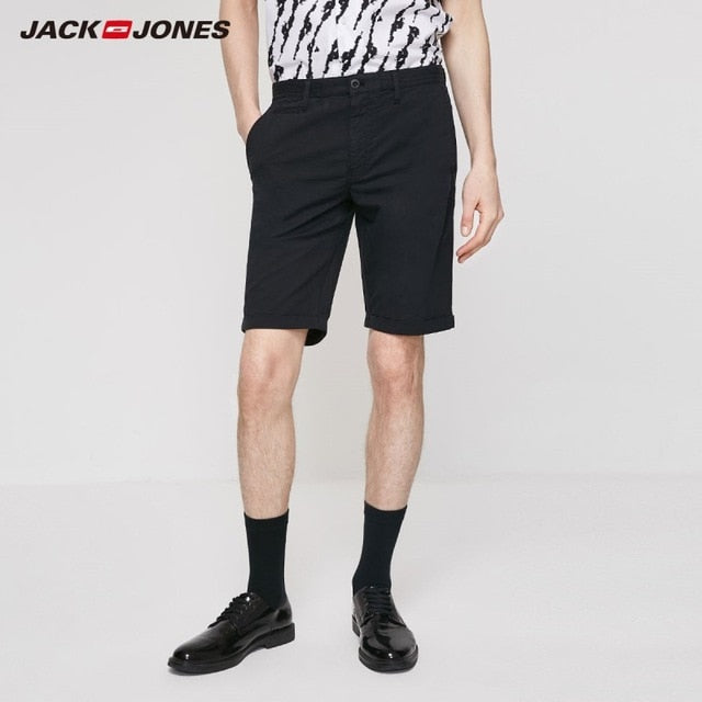 Men's Slim Fit Basic Multi-colored Stretch Cotton Shorts| - onlinedressstore