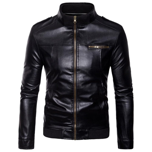 Factory Brand Men's Leather Jackets Coats Winter Male Fashion  Jacket Men Comfortable Warm Leather Jackets - onlinedressstore
