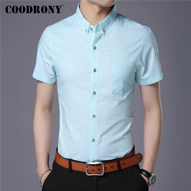 Spring Summer Mens Shirts Slim Fit Short Sleeve Shirt Men Clothes Business Casual Camisa Social - onlinedressstore