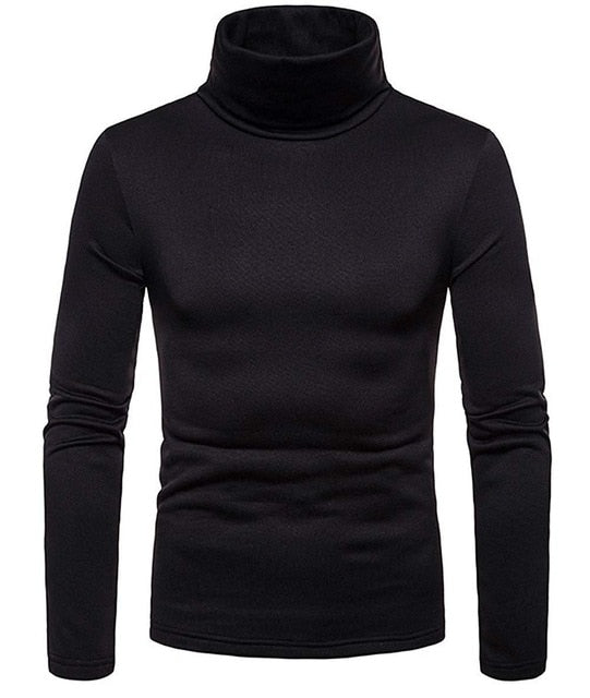 Korea Mens Cotton Turtle Neck Turtleneck Sweater Stretch jumper M L XL 2XL - onlinedressstore