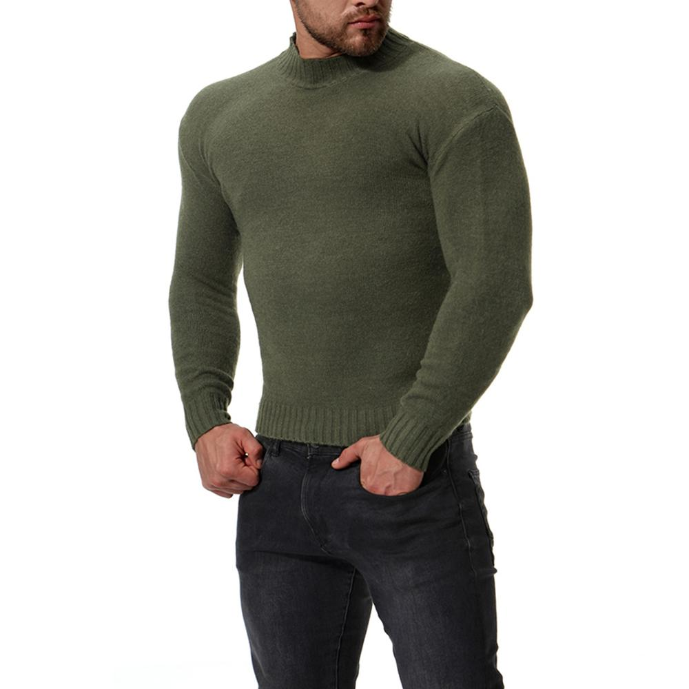 New Sweater Men'S Solid Color Casual Male Sweater - onlinedressstore