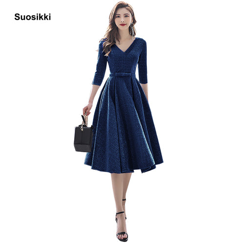 Suosikki New Arrival 2020 Formal Short Prom Dresses Elegant Plus size Vestdios evening Party Gown - onlinedressstore