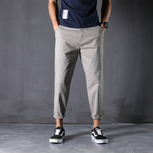 100% Cotton New Pants Man 28-48 Large Size Ankle-Length Harem Trousers Loose Comfortable Classic Causal Daily Clothes - onlinedressstore