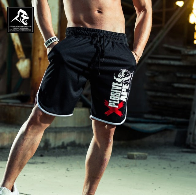 New Fashion Men Sporting Beaching Shorts Trousers Cotton Bodybuilding Sweatpants Fitness Short Jogger Casual Gyms Men Shorts - onlinedressstore