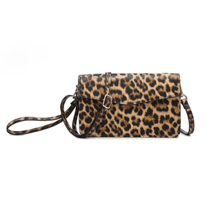 Leopard RFID Touch Screen Crossbody