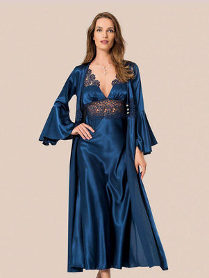 Flourish Night Wear-Gown Set-Mg-092-Gown-Set - LadiesInn.pk