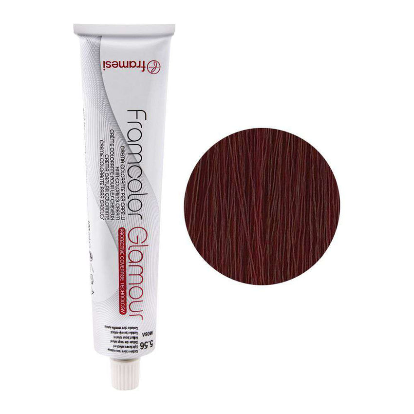 Framesi Framcolor Glamour Hair Coloring Cream, 5.56 Light Brown Natural Red - LadiesInn.pk