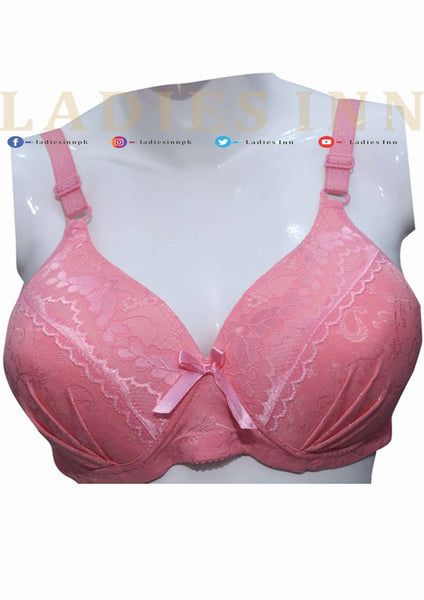Padded Fancy Non-wired Bra - LadiesInn.pk