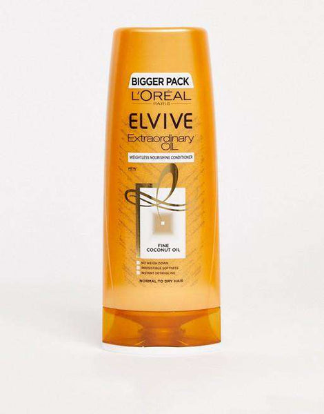 L'Oreal Elvive Extraordinary Oil Coconut Conditioner For Normal To Dry Hair 400Ml - LadiesInn.pk